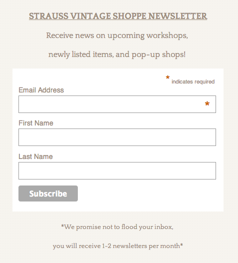MailChimp Newsletter Signup Example
